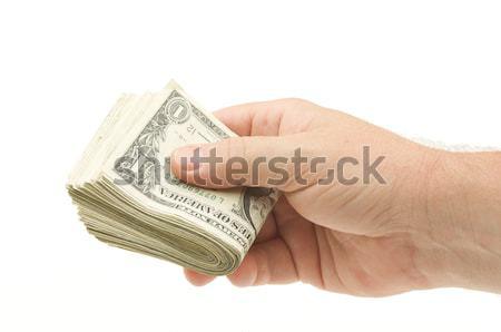 Handing Over Money Stock photo © feverpitch