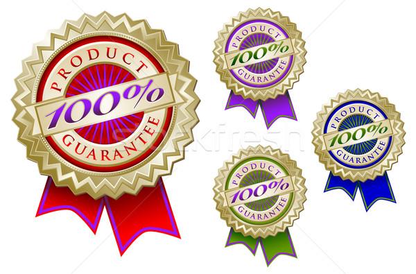 Ayarlamak dört renkli 100 ürün garanti Stok fotoğraf © feverpitch