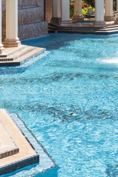 Exótico lujo piscina bañera de hidromasaje resumen agua Foto stock © feverpitch