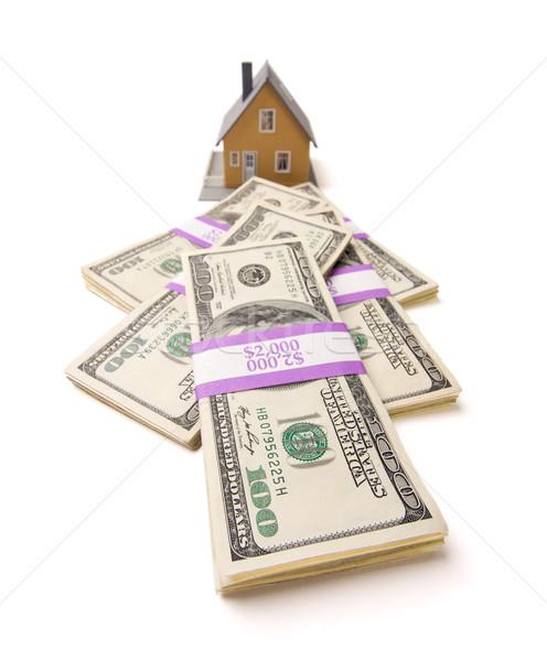 Foto stock: Casa · dinheiro · isolado · branco · casa · numerário