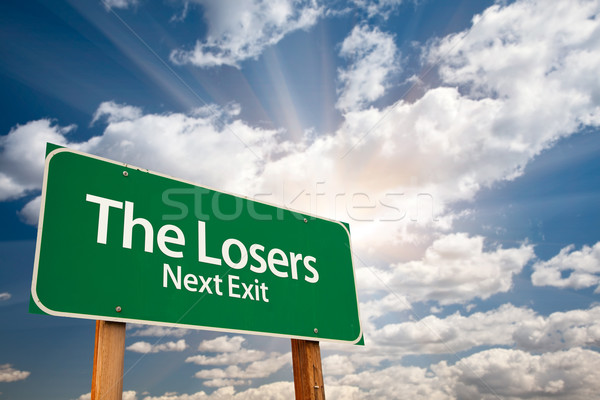 The Losers Green Road Sign and Clouds Stock photo © feverpitch