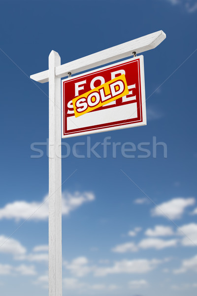Vente immobilier signe Photo stock © feverpitch