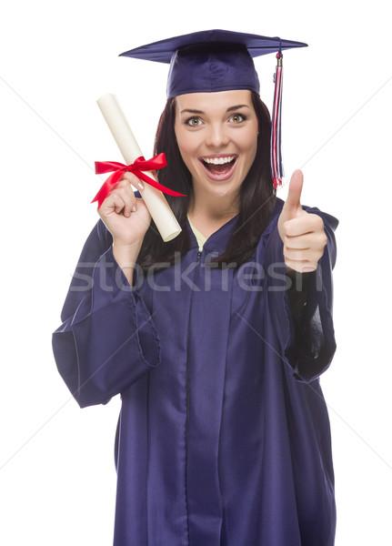 Mezun kapak cüppe diploma Stok fotoğraf © feverpitch