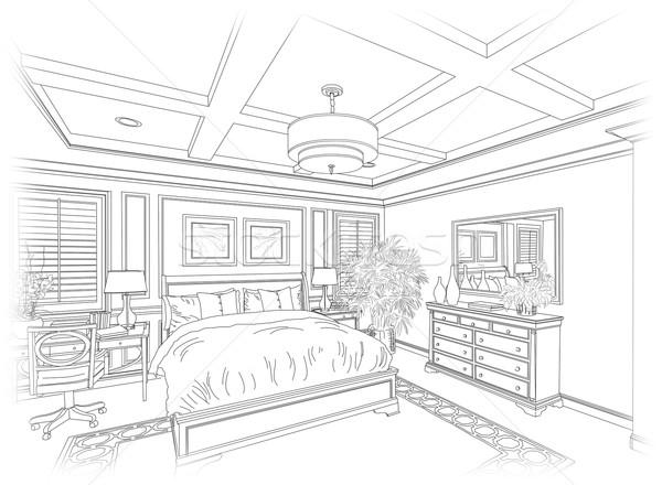 Linie 183 Desen 183 Dormitor 183 Detaliat 183 Frumos 183 Proiect