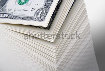 Absztrakt nagy boglya egy dollár bankjegyek zöld Stock fotó © feverpitch