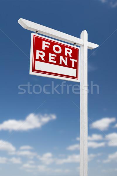 Affitto immobiliari segno cielo blu nubi Foto d'archivio © feverpitch