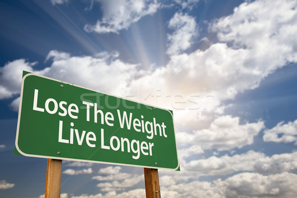Lose The Weight Live Longer Green Road Sign Stock photo © feverpitch