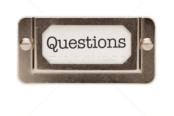 Questions File Drawer Label Stock photo © feverpitch
