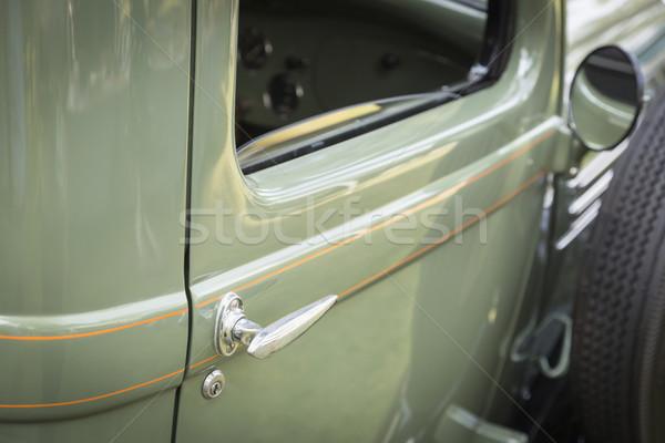 Részlet absztrakt régi autó ajtó fogantyú gyönyörű Stock fotó © feverpitch