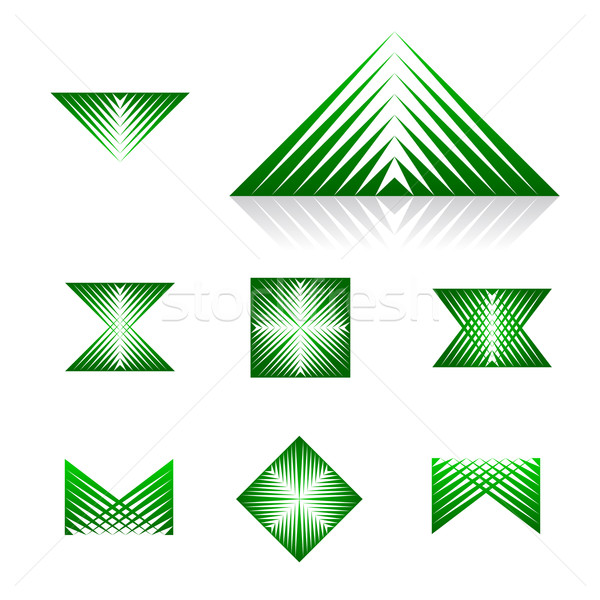 Dynamisch universeel abstract berg patroon Stockfoto © feverpitch