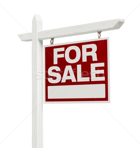 Otthon vásár ingatlan felirat vágási körvonal helyes Stock fotó © feverpitch