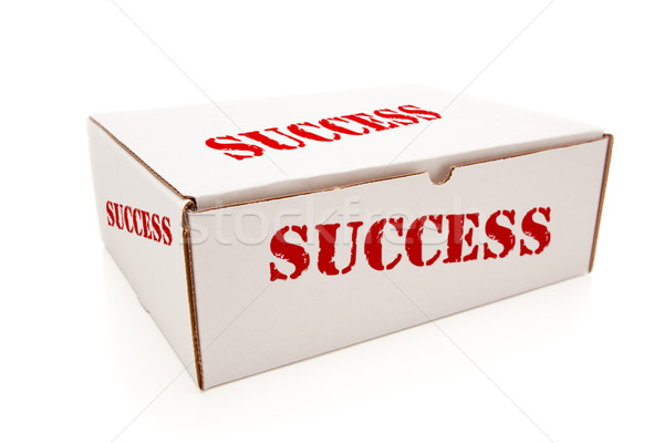 White Box with Success on Sides Isolated Stock photo © feverpitch