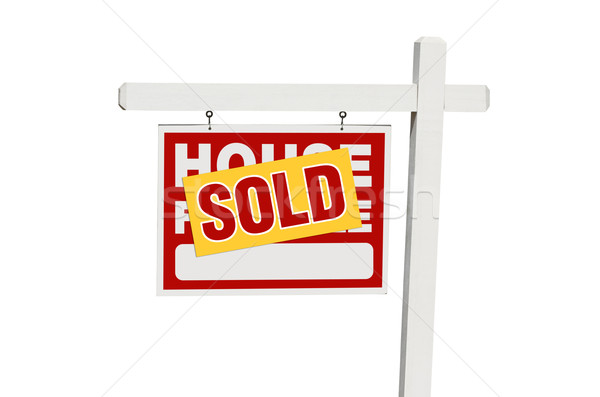 Isolated Sold Home For Sale Sign Stock photo © feverpitch