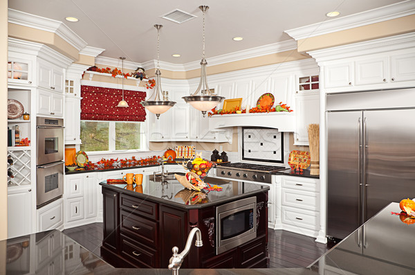 Stock photo: Beautiful Custom Kitchen Interior
