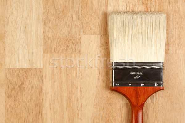 Foto stock: Paint · brush · madeira · superfície · copiar · quarto · pintura