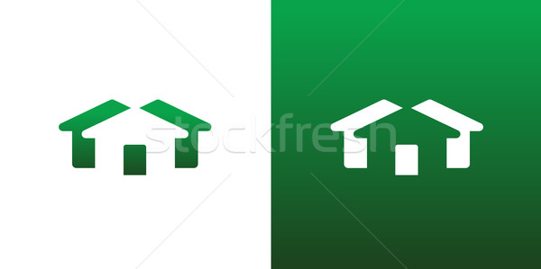 Abstract Real Estate Housing Symbol Both Solid And Reversed Stock photo © feverpitch