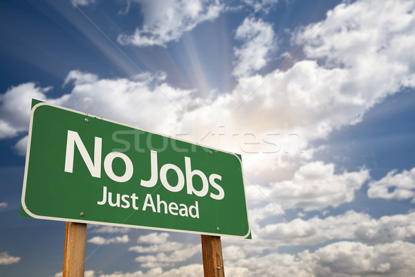 No Jobs Green Road Sign Stock photo © feverpitch
