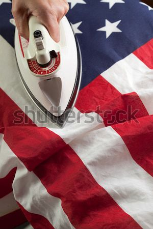 Ironing Out the Wrinkles of Flag Stock photo © feverpitch