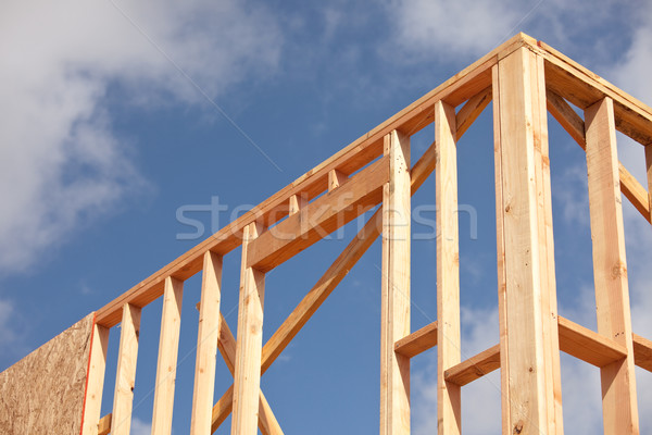 Abstract Home Construction Site Stock photo © feverpitch