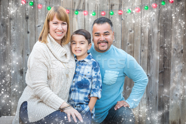 Young Mixed Race Family Portrait Outside Stock photo © feverpitch