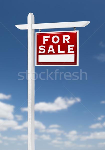 Direito venda imóveis assinar blue sky Foto stock © feverpitch