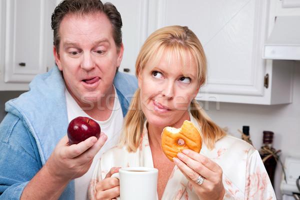 Owoców pączek zdrowe odżywianie decyzja para kuchnia Zdjęcia stock © feverpitch