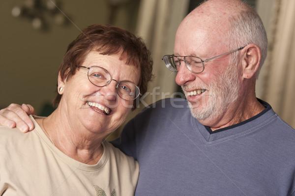 Happy Senior Couple Portrait Stock photo © feverpitch