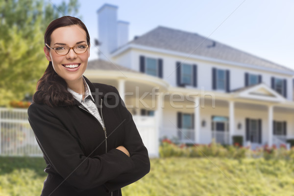 Mixed Race Woman in Front of Custom House Stock photo © feverpitch