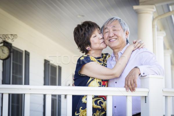 Atraente chinês casal casa feliz Foto stock © feverpitch
