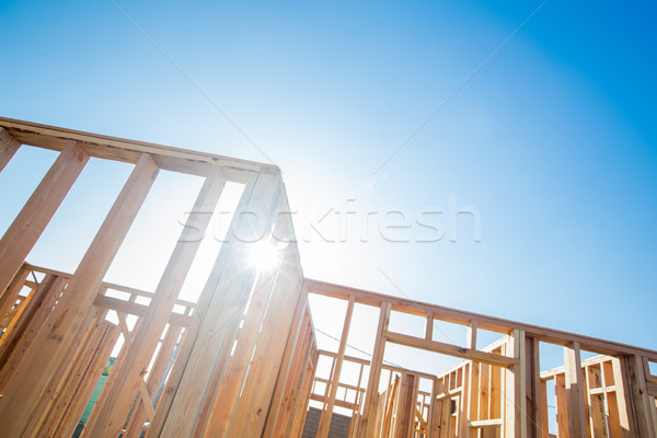 Stockfoto: Hout · home · abstract · bouwplaats · bouwen · project