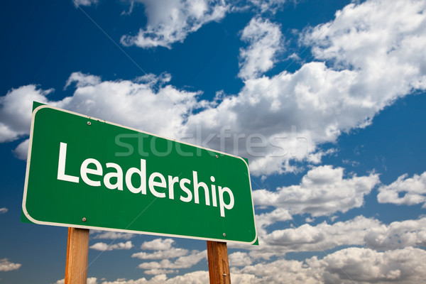 Leadership Green Road Sign Stock photo © feverpitch