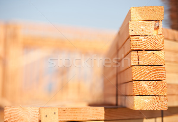Stack of Building Lumber Stock photo © feverpitch
