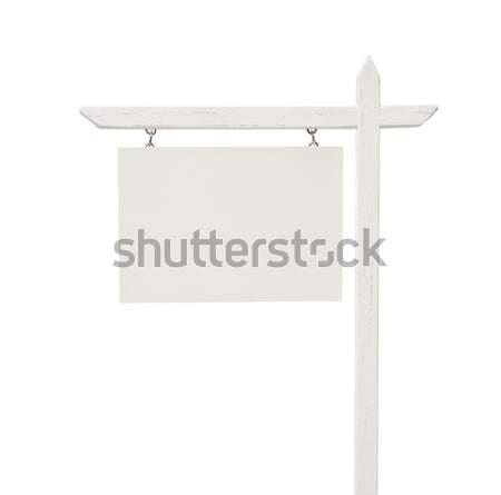 Zdjęcia stock: Nieruchomości · podpisania · biały · odizolowany · ścieżka · sprzedaży