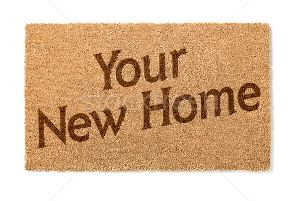 Your New Home Welcome Mat On White Stock photo © feverpitch