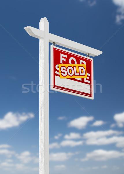 Uitverkocht verkoop onroerend teken Stockfoto © feverpitch