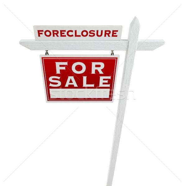 Uitsluiting uitverkocht verkoop onroerend teken Stockfoto © feverpitch