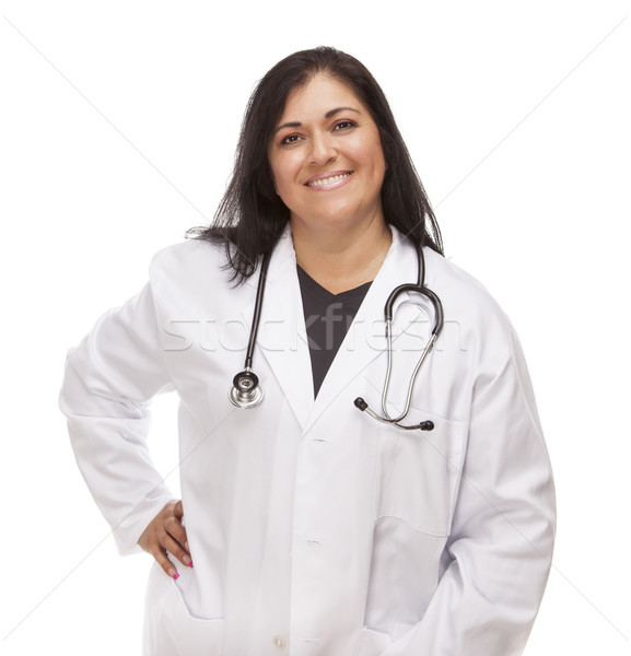 Attractive Female Hispanic Doctor or Nurse Stock photo © feverpitch