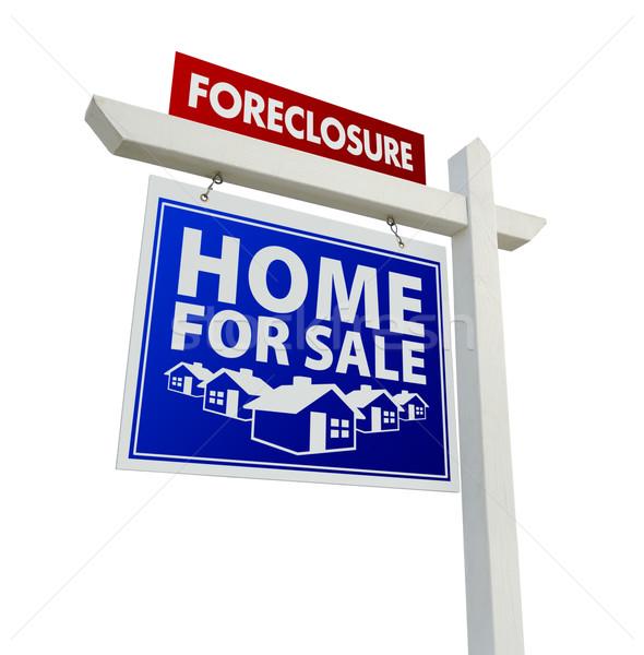 Piros kék zálogjog érvényesítése otthon vásár ingatlan Stock fotó © feverpitch