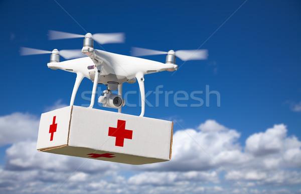 航空機 最初 応急処置 パッケージ 空気 ストックフォト © feverpitch