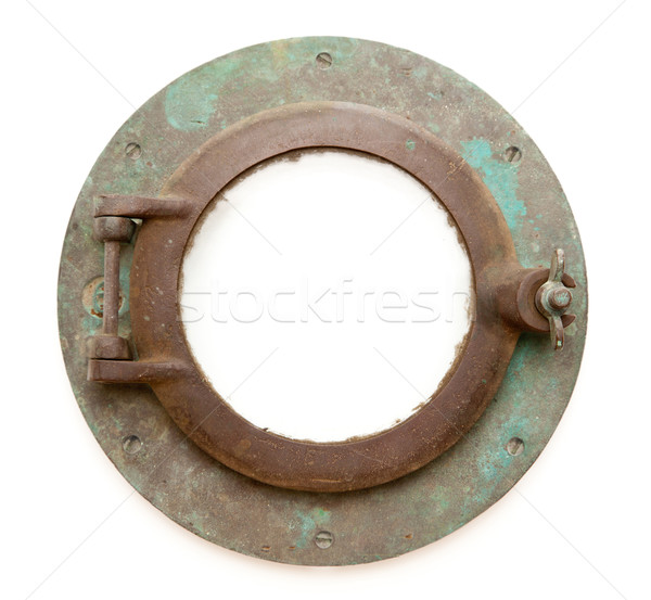 Stock photo: Aged Antique Ship Porthole Isolated with Clipping Path