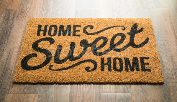 Home Sweet Home Welcome Mat On Floor Stock photo © feverpitch