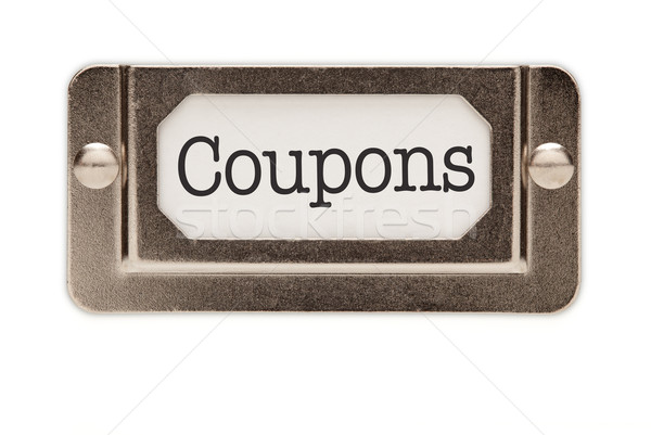 Coupons File Drawer Label Stock photo © feverpitch