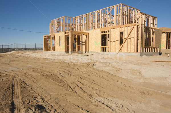Stock photo: Construction Home Framing Abstract