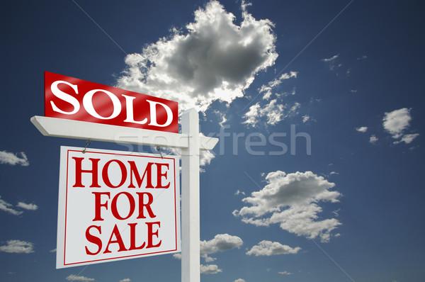 Stock fotó: Eladva · otthon · vásár · felirat · drámai · felhők