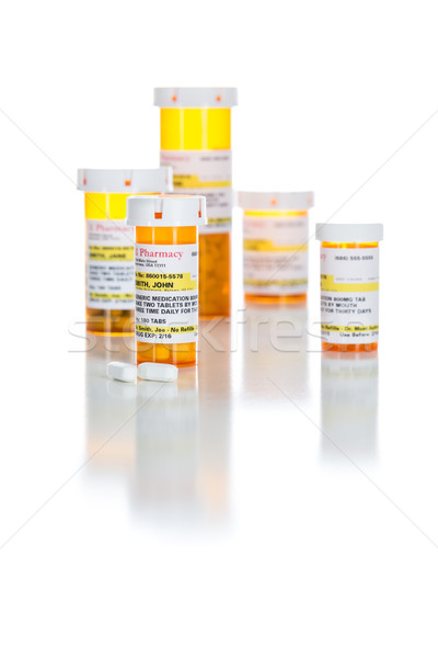 Non-Proprietary Medicine Prescription Bottles and Pills Isolated Stock photo © feverpitch