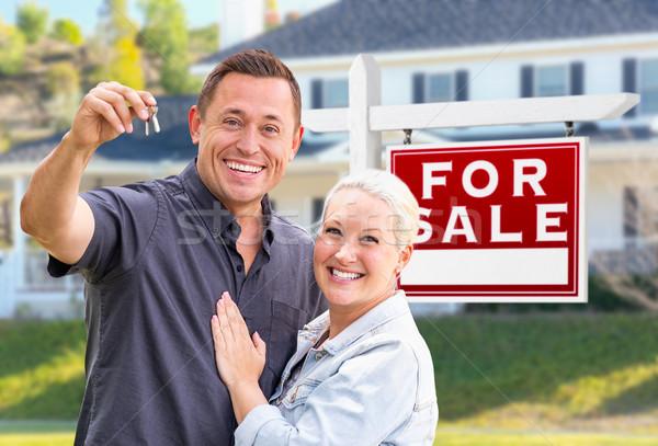 Casal casa teclas casa venda Foto stock © feverpitch