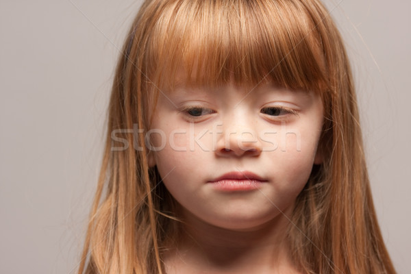 Portrait of an Adorable Red Haired Girl Stock photo © feverpitch