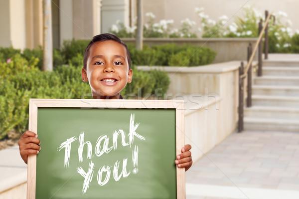 Stockfoto: Latino · jongen · dank · u · krijt · boord