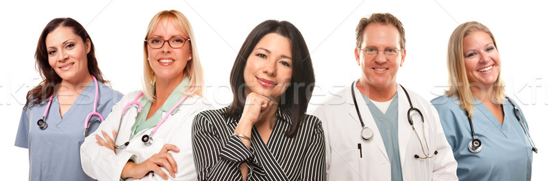 Hispanique femme Homme Homme médecins Photo stock © feverpitch