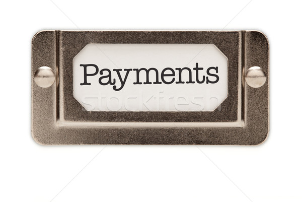 Payments File Drawer Label Stock photo © feverpitch